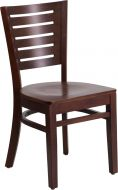 HUSKY Seating® 800 LB Walnut Wooden Restaurant Chair